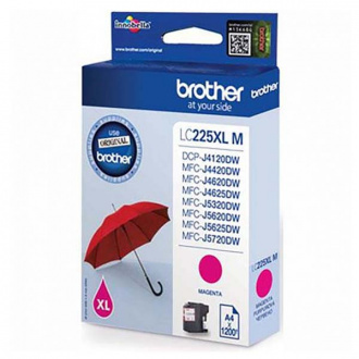 Brother LC-225-XL (LC225XLM) - patron, magenta (magenta)